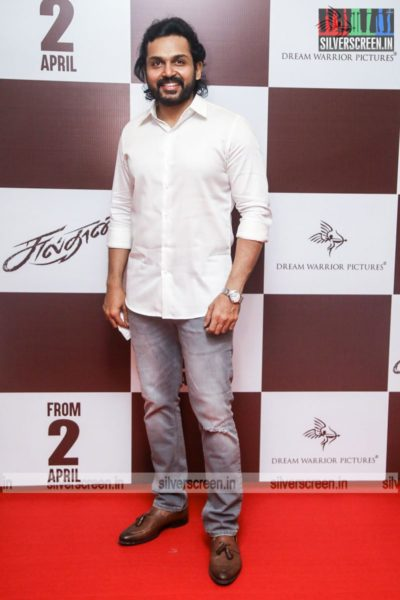 Karthi At The Sulthan Pre-Release Event