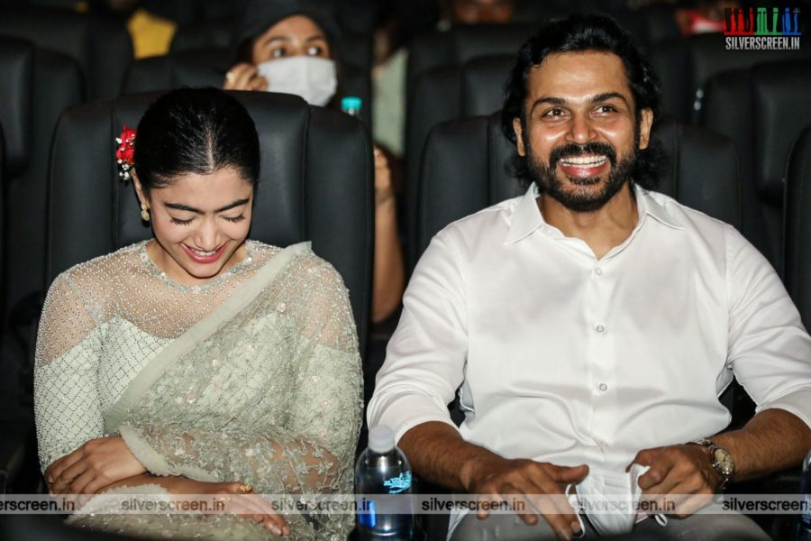 Karthi, Rashmika Mandanna At The Sulthan Pre-Release Event