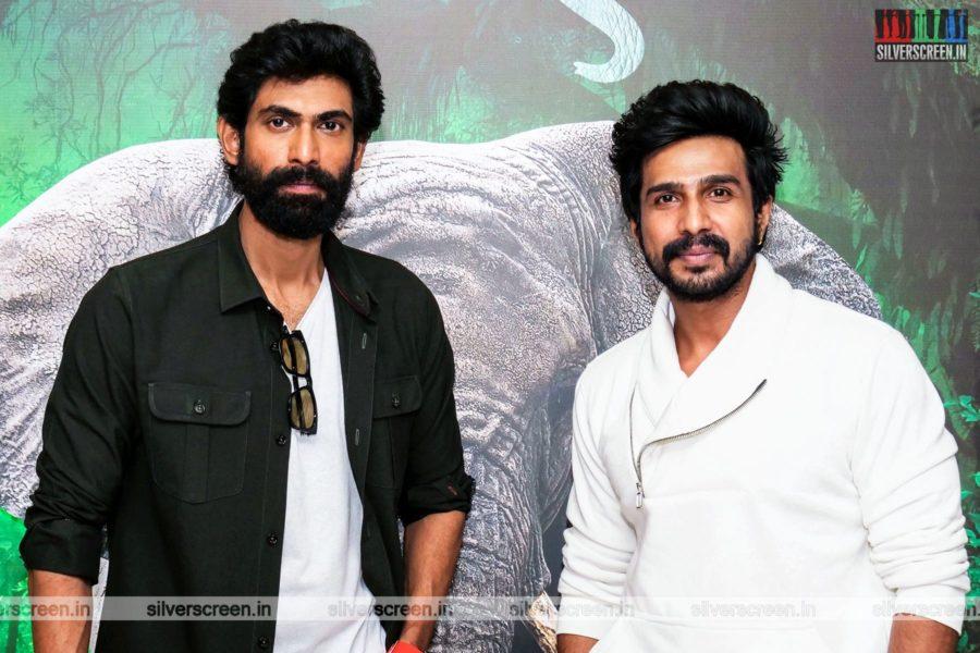 Vishnu Vishal, Rana Daggubati At The Kaadan Trailer Launch