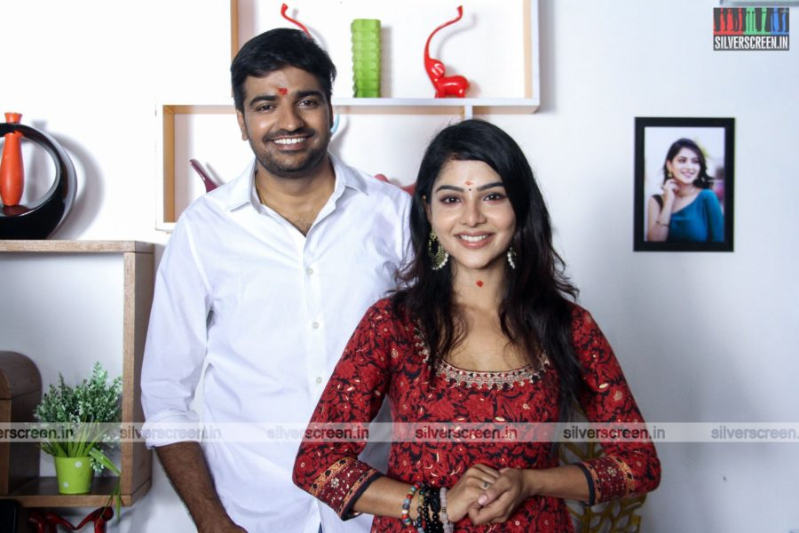 Sathish, Pavithra Lakshmi At The AGS Production No. 11 Movie Launch