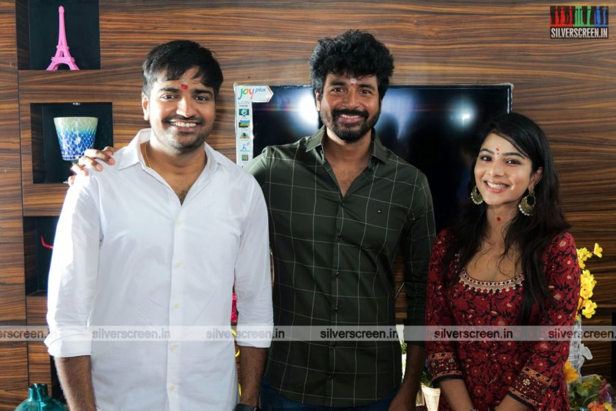 Sathish, Pavithra Lakshmi, Sivakarthikeyan At The AGS Production No. 11 Movie Launch