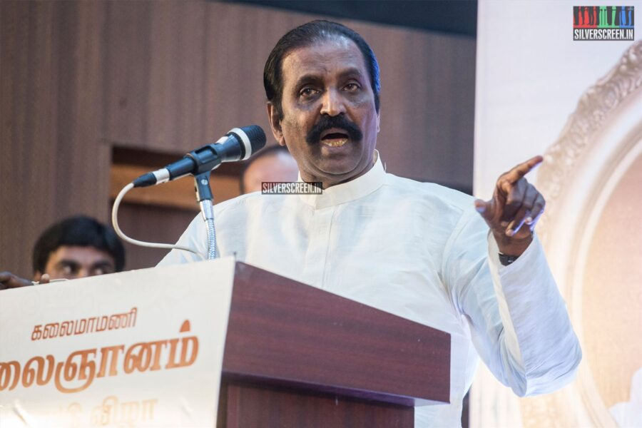 Vairamuthu Felicitates Writer Kalaignanam