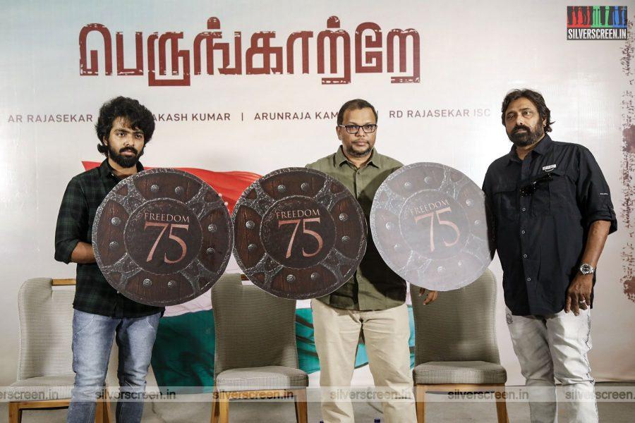 GV Prakash Kumar, RD Rajasekhar At The Freedom-75 Press Meet In Chennai