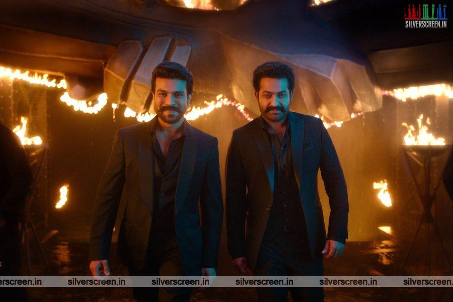 RRR Movie Stills Starring Ram Charan, Junior NTR