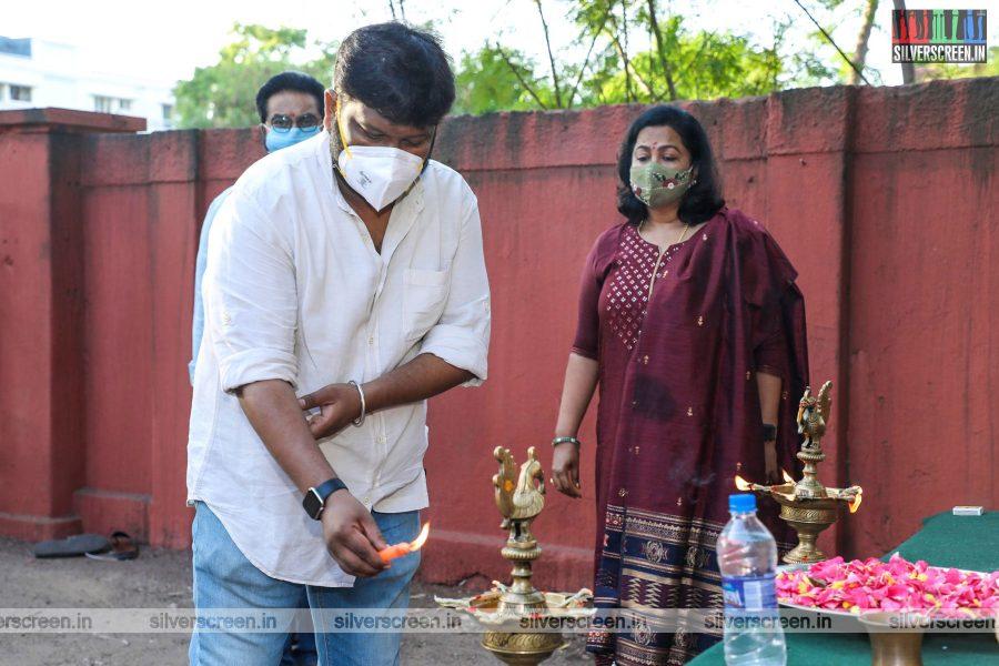 Sarathkumar, Radhika Sarathkumar At The Irai Movie Launch