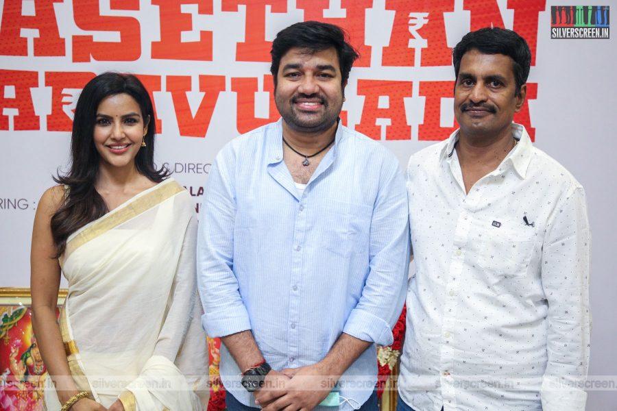 Priya Anand, Shiva, R Kannan At The Kasethan Kadavulada Movie Launch