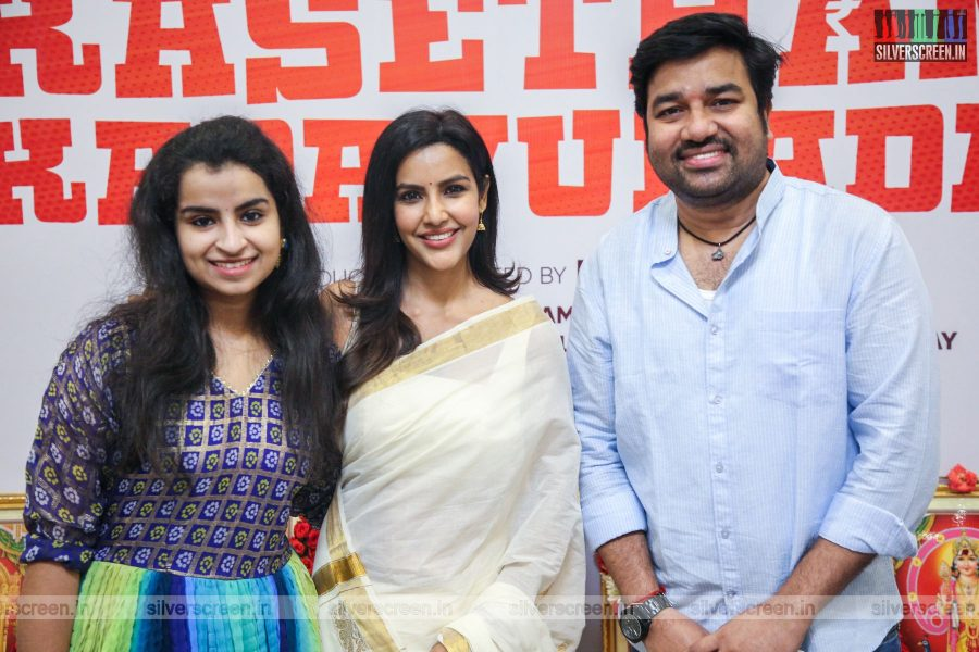 Priya Anand, Shiva, Sivaangi At The Kasethan Kadavulada Movie Launch