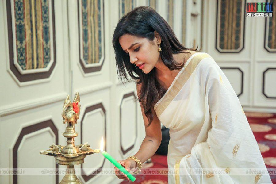 Priya Anand At The Kasethan Kadavulada Movie Launch