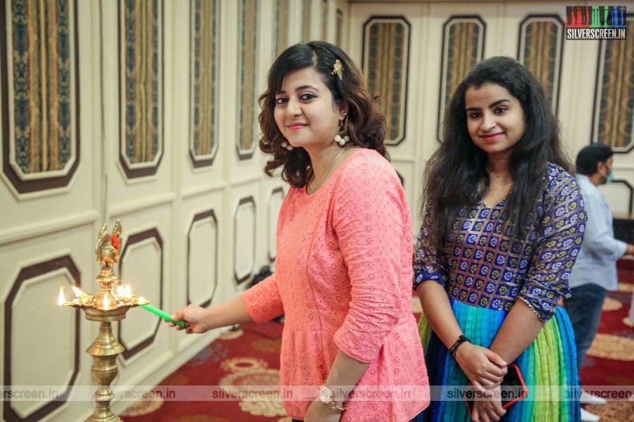 Sivaangi At The Kasethan Kadavulada Movie Launch