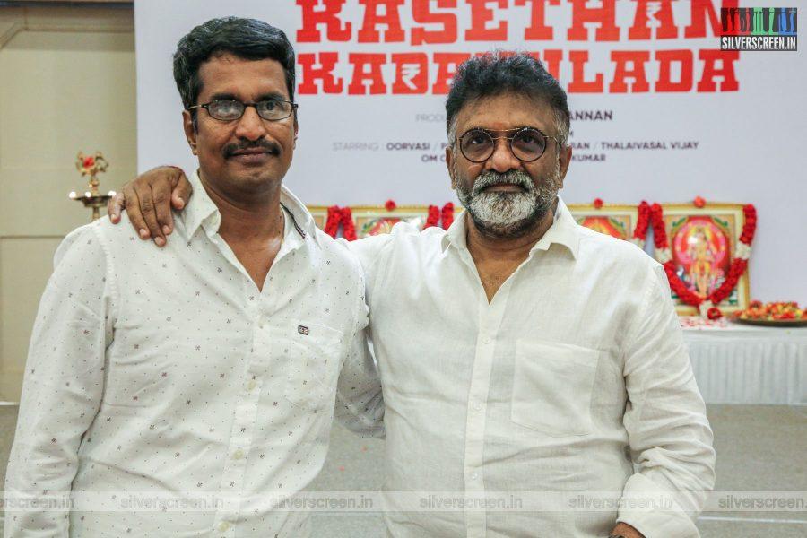 R Kannan, T Siva At The Kasethan Kadavulada Movie Launch