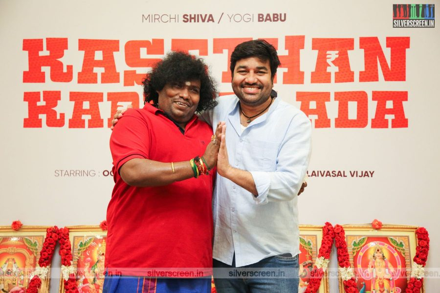 Yogi Babu, Shiva At The Kasethan Kadavulada Movie Launch