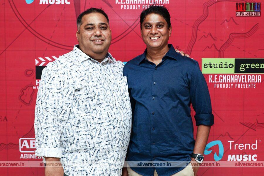 CV Kumar At The Pandrikku Nandri Solli Audio Launch