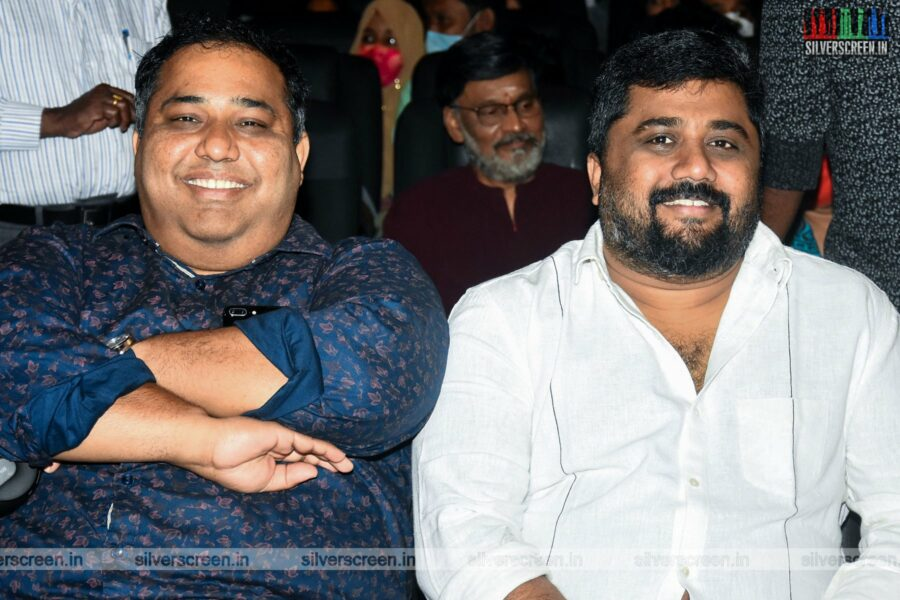 CV Kumar, KE Gnanavelraja At  The Murungakkai Chips Audio Launch
