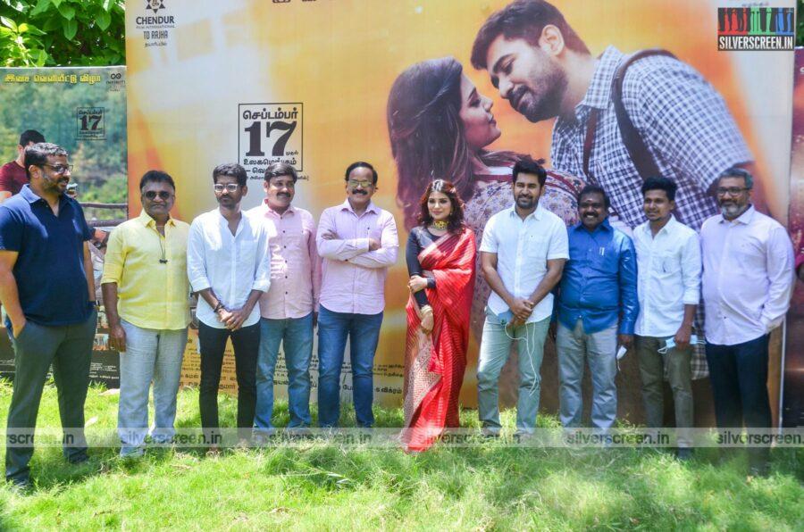 Vijay Antony, Aathmika At The Kodiyil Oruvan Press Meet