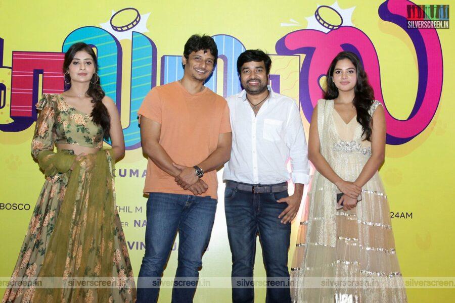 Jiiva, Palak Tiwari, Tanya Hope, Mirchi Shiva At The Golamaal Movie Launch