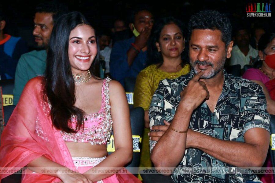 Amyra Dastur and Prabhu Deva At The Bagheera Press Meet