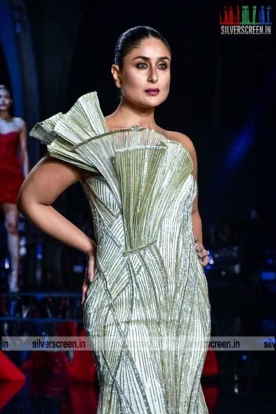 Kareena Kapoor walks the ramp for Gaurav Gutpa at the Lakme Fashion Week 2021