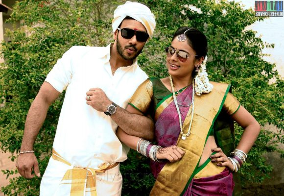Actor Bharath and Nandita inAindhaam-Thalaimurai-Sidha-Vaidhiya-Sigamani