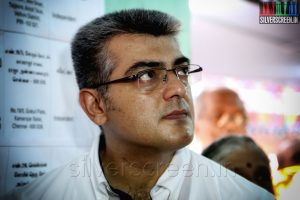 Actor-Ajith-Kumar-and-wife-Shalini-vote-in-the-Lok-Sabha-Elections-2014